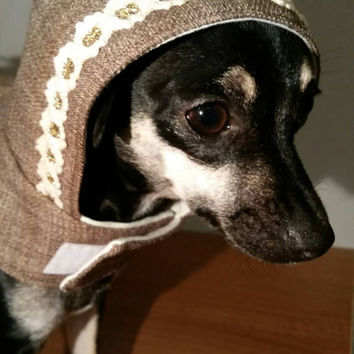 Dog coat - handmade - dog clothing - xsmall dog clothes - clothes for small dogs - chihuahua clothes