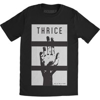 Thrice Men's  Slip Away Slim Fit T-shirt Black