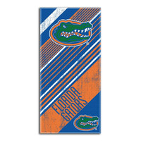 Florida Gators NCAA Fiber Reactive Beach Towel (Diagonal Series) (28in x 58in)