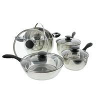 Oster Lorenza Stainless Steel 9PC Pots & Pans Set