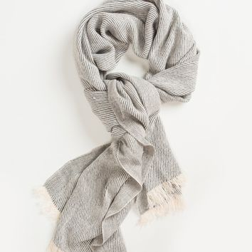 Amy Grey Stripe Scarf