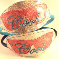 Cool Embroidered Headband on 3/8 satin covered Headband, Glasses Headband Slider, 3/8 Covered headband with embroidery, Headband Glasses