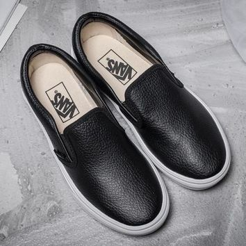 Trendsetter Vans Slip-On Leather Old Skool Flat Sneakers Sport Shoes