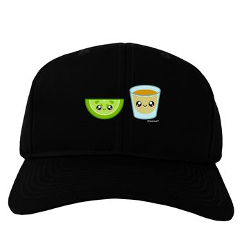 Cute Tequila Shot and Lime Wedge Adult Dark Baseball Cap Hat by TooLoud