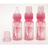 Dr Brown's 4 Ounce Baby Bottles 3 Pack - Pink
