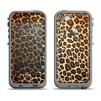 The Vibrant Leopard Print V23 Apple iPhone 5c LifeProof Fre Case Skin Set