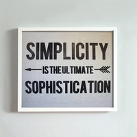 8x10 Simplicity print by GusAndLula on Etsy