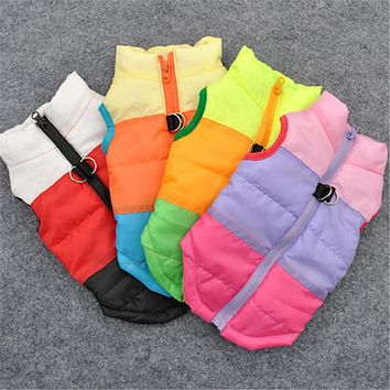 Winter Warm Jacket Pet Dog Cothes Windproof Coat Dogs Snowsuit Vest Harness Dog Cachorro Mascotas Clothing