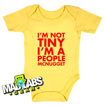I'm Not Tiny I'm a People McNugget first cute funny baby one piece music tv show gus jumper Bodysuit Creeper Dirty DJ B-28
