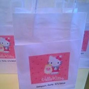 Cartoon Character Personalized Party Favor Goodie Bags (Minimum Qty. 10)