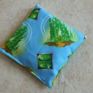 Hot or Cold Rice Pack Choose aScent in Wizard of Oz Emerald City, Boo Boo Pack, Microwave Rice Pack, Heating Pad, Soothing, Migraine Relief