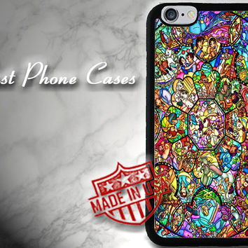 Disney Phone Case All Characters stained glass, iPhone 6 plus case, iPhone 6 case, iPhone 5, 5s case, iPhone 5c case, iPhone 4, 4s cover