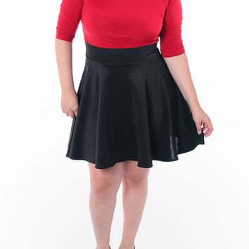 822d5e0247 Plus Size Sexy Flared Skirt Red Dress