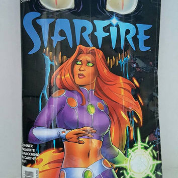 Starfire Clutch Bag - Upcycled Comic Book Purse