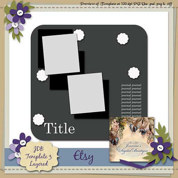 Digital Scrapbooking Template Digital Elements Papers Frames Ribbons COMPLETE For Your Next Scrapbooking Layout Using Your Scrapbooking Kit
