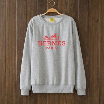 Hermes Fashion Casual Top Sweater Pullover-1
