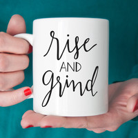 Rise & Grind Ceramic Coffee Mug