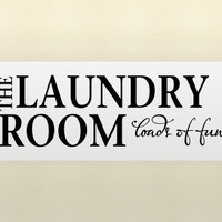 THE LAUNDRY ROOM LOADS OF FUN Vinyl wall lettering stickers quotes and saying...