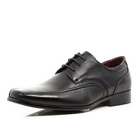 River Island MensBlack lace up formal shoes