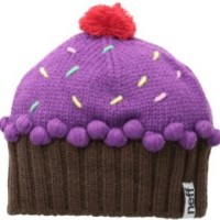 Neff Women's Cupcake Beanie Hat, Neon Purple, One Size