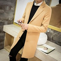 Six colors Winter men's tops clothing brand fashion windbreaker coat new 2017 society suitable coat men solid color Coat M-5XL