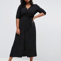 Alice & You Maxi Tea Dress With 3/4 Sleeves at asos.com