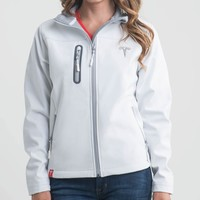 Tesla — Women's White Corp Jacket