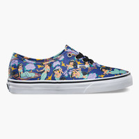 Vans Disney Collection Jasmine Authentic Womens Shoes Purple Combo  In Sizes