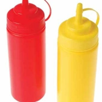ketchup and mustard squeeze bottles Case of 72