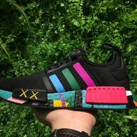 Best Online Sale Kaws x Adidas Consortium NMD R1 Multicolor Black S31513 Boost Sport Running Shoes Classic Casual Shoes Sneakers