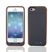 AP® 2500mAh External Battery Backup Case charger pack power bank for iphone 5 / 5s[Orange]