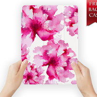 ipad air case leather smart cover flower for ipad mini ipad air 1 2 3 retina display flowerbg-09flower09
