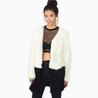 Long Sleeve Soft Fur Coat Jacket [6407738692]