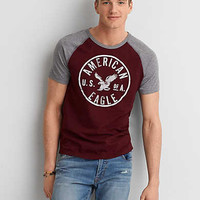 AEO Applique Graphic T-Shirt, Wineberry