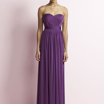 Jenny Yoo JY503 Long Strapless Bridesmaid Dress