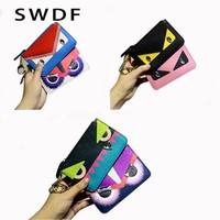 SWDF-Little Monster  Leather Wallets