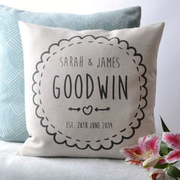 Personalised Couple Cushion Cover