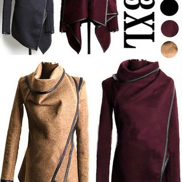 NEW ARRIVAL!!!Fashion Women Big Size Top Qiality Wool Winter Coat Jacket Hoodies,5 Colors,S-XXXL = 1930337092
