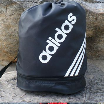 Adidas Men and women of mouth draw string backpack to receive the student sports fitness yoga training bag bag bag mail-1