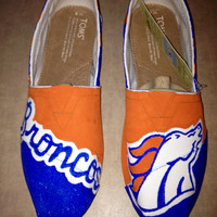 Denver Broncos Painted Toms