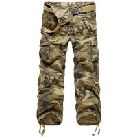 Camouflage Patch Pocket Cargo Pants