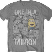 DESPICABLE ME 2  One In A Minion S M L XL XXL tee t Shirt NEW movie licensed