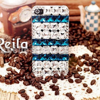 iphone case with full gems - unique crystal iphone 4s case, handmade iphone 4 case,bling bling iphone 5 case