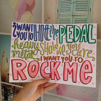 One Direction- Rock Me lyric art