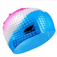 an women Silicone large size candy colors swimming wear hat Adults Waterproof swimming caps badmuts silicone swimming hat