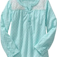 Old Navy Girls Embroidered Yoke Tunics