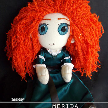 Disney Merida Brave Plush Doll Plushie Toy Ragdoll