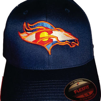 Broncos Colorado Flag embroidered hat on snapback or Flexfit 6277 hat Denver Colorado USA awesome Christmas Gift