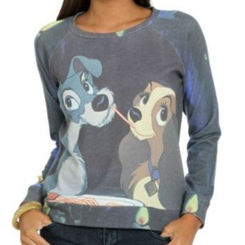 Wet Seal Women`s Lady Tramp Sublimation Sweatshirt: Clothing