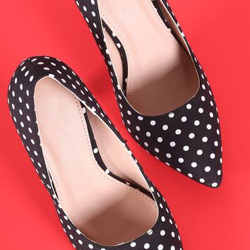 Polka Dot Pointy Toe Stiletto Pump